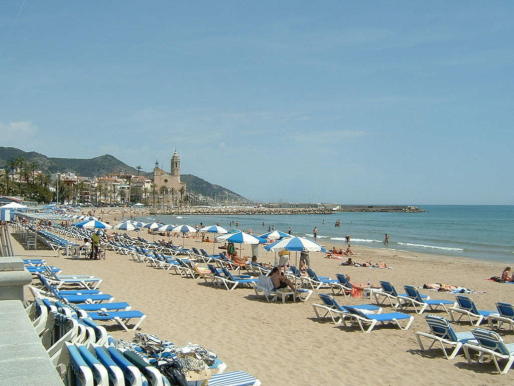 Sitges, one of the beaches south of Barcelona