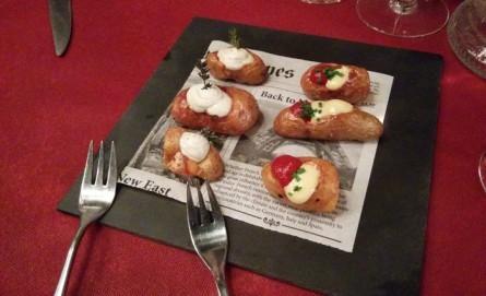 patatas asadas en Restaurante Carlitos