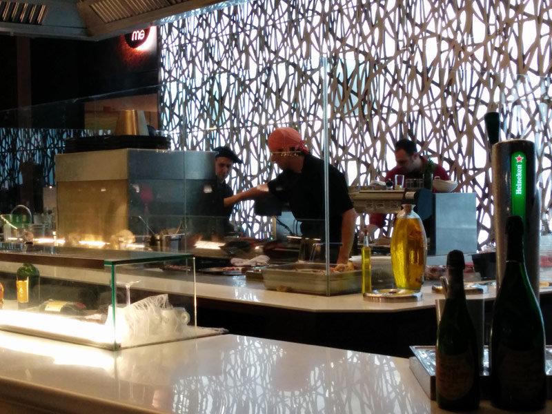 show cooking en restaurante Barcelona Abrassame