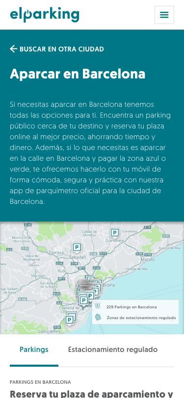 app aparcamiento Barcelona