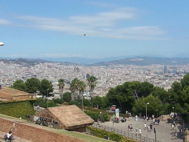 Vista desde El Castillo de Montjuïc (Castell de Montjuïc)