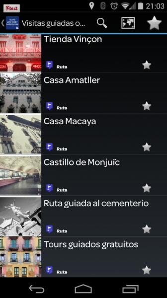 Descubre Barcelona con la app Guía de Barcelona Low Cost