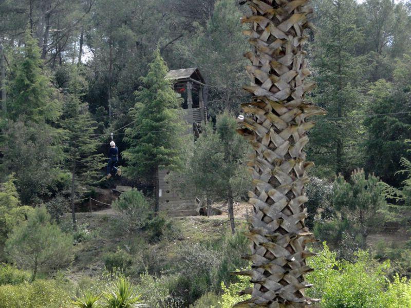 Tirolina gigante en Catalunya en Miniatura