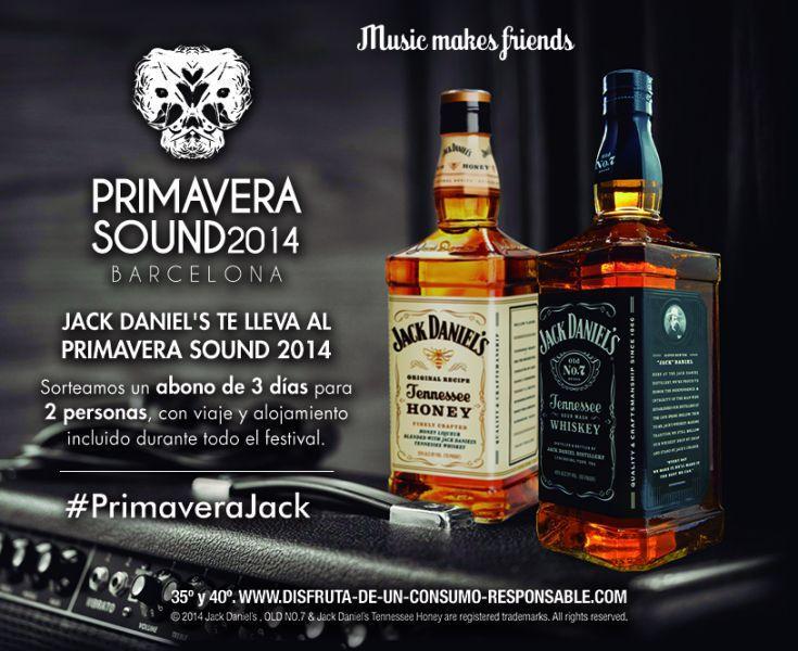Jack Daniel's te invita al Primavera Sound 2014 gratis en su Facebook